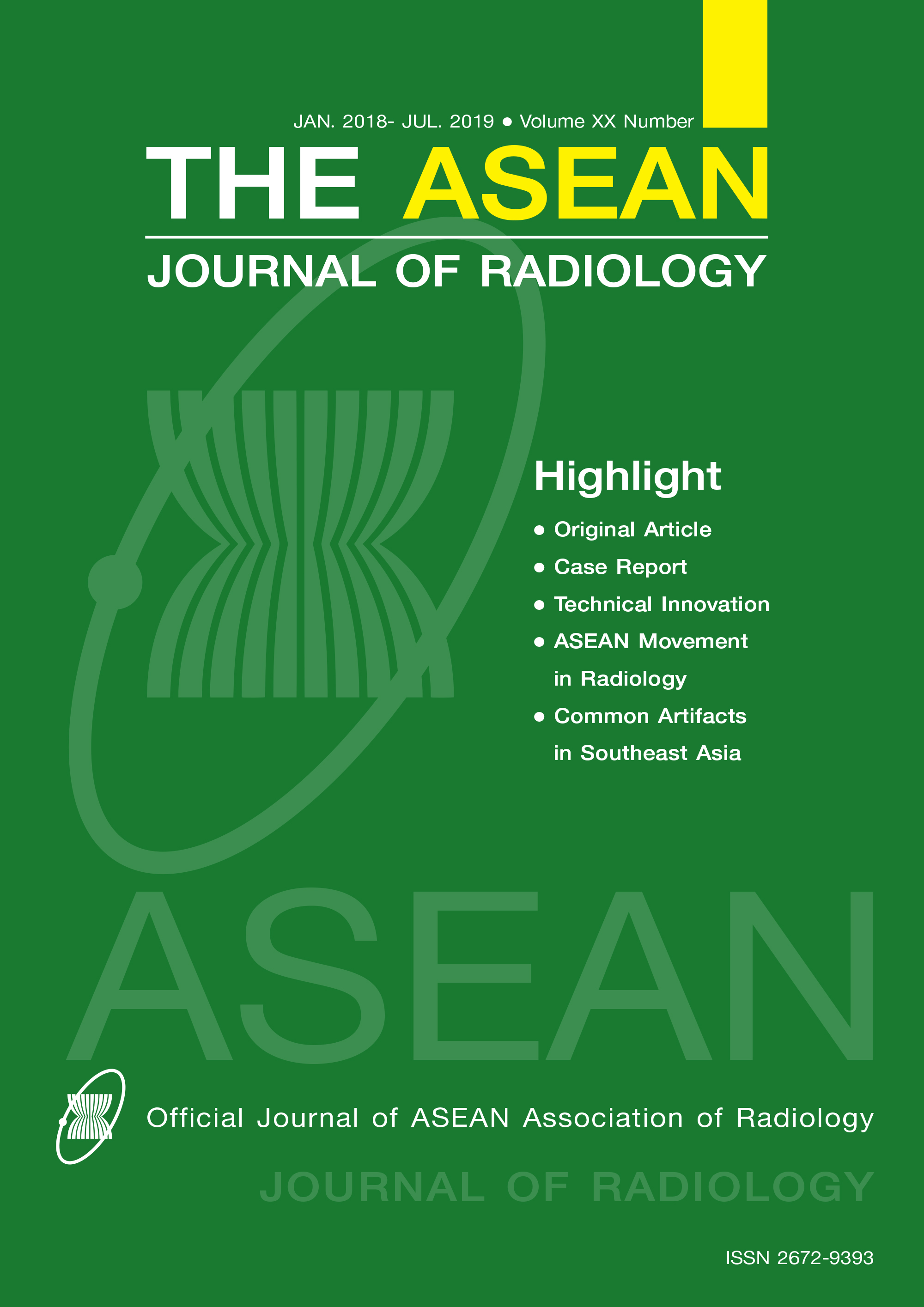 View Vol. 20 No. 1 (2019): The first fully online issue of The ASEAN Journal of Radiology